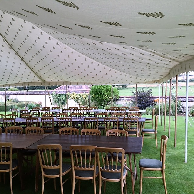 Block Print Fern Linings - DP Marquees