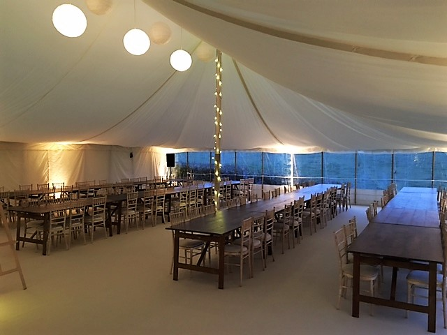 Flat Linings in Traditional Marquee - DP Marquees