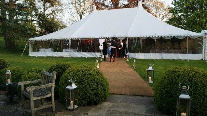 Traditional in the back garden - DP Marquees