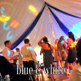 blue white - dp marquees