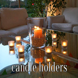 glass candle holders - dp marquees