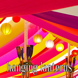 hanging lanterns - dp marquees