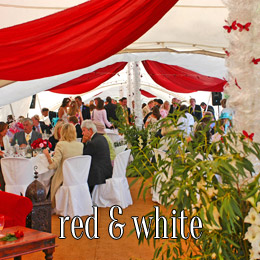 red white - dp marquees