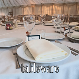 tableware - dp marquees