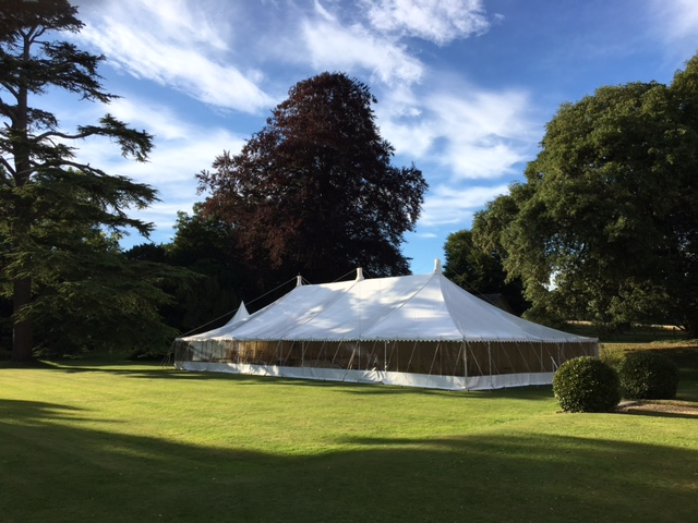 traditional 40'x80' marquee - dp marquees ltd