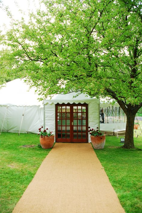 Dorset country wedding entrance - dp marquees