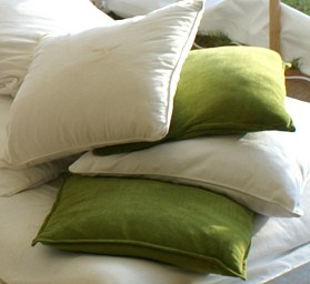 green and white velvet cushions - dp marquees ltd