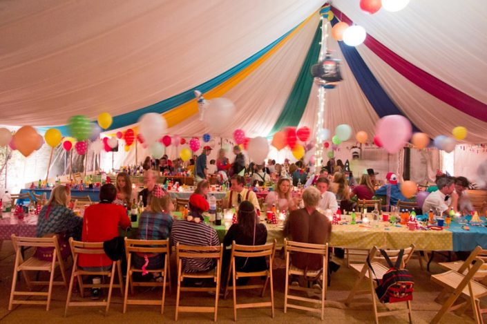 multi coloured themed interior 001 - dp marquees