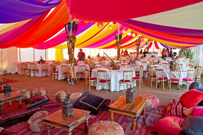 multi coloured themed interior 005 - dp marquees