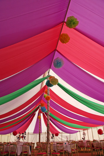 multi coloured themed interior 006 - dp marquees