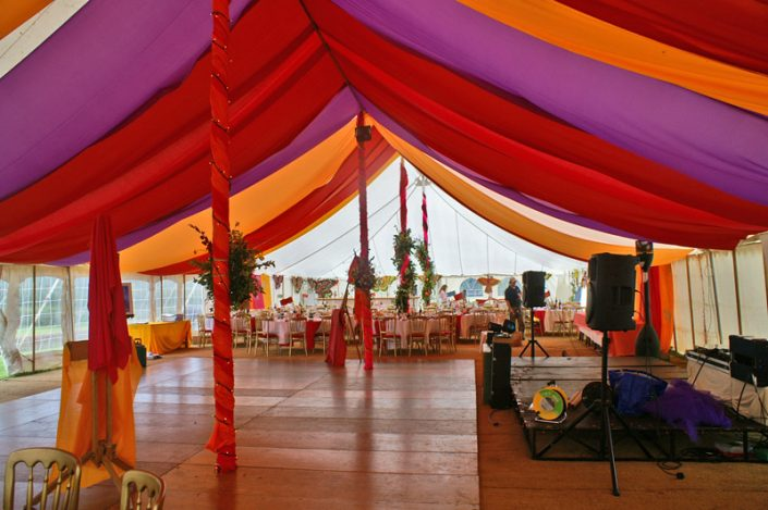 multi coloured themed interior 007 - dp marquees