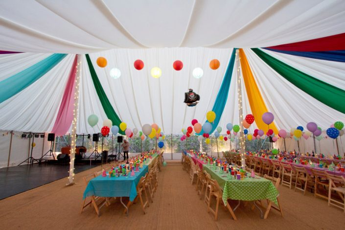 multi coloured themed interior 008 - dp marquees