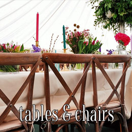 tables chairs - dp marquees